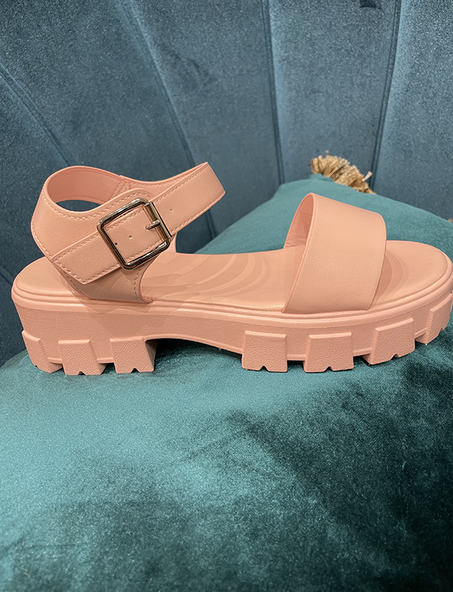 Sandaletten in rosé und Schwarz